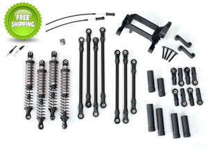 Traxxas TRA8140 Complete Long Arm Lift Kit with Shocks: 1/10 TRX-4
