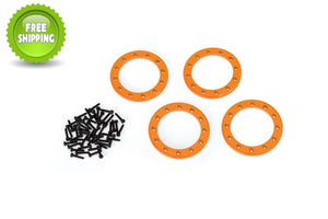 Traxxas TRA8169A Orange Aluminum 1.9 Bead-Lock Rings(4) Screws(48): 1/10 TRX-4