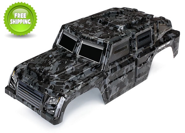 Traxxas TRA8211X Tactical Unit Night Camo Painted Body + Decals: 1/10 TRX-4