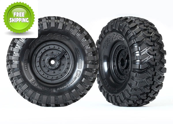 Traxxas TRA8273 Canyon Trail 1.9 Tires with Tactical Wheels(Set of 2) 1/10 TRX-4