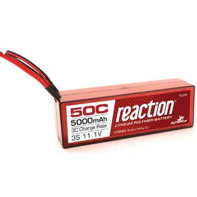 Dynamite DYNB3803EC Reaction LiPo Battery 11.1V 5000mAh 3S 50C Hardcase: EC3 Plug