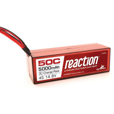 Dynamite DYNB3804EC Reaction LiPo Battery 14.8V 5000mAh 4S 50C Hardcase: EC5 Plug