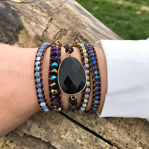 "BOHO ARMBAND ""BLACK NIGHT"""