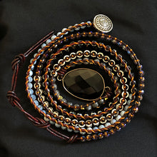 "Laden Sie das Bild in den Galerie-Viewer, BOHO ARMBAND ""BLACK NIGHT"""
