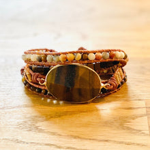 "Laden Sie das Bild in den Galerie-Viewer, BOHO ARMBAND ""TIGERAUGE"""