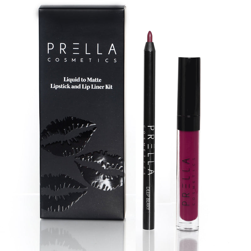 Sugar Beet  and Deep Berry Lip Kit - PRELLA Cosmetics