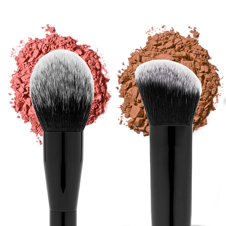 Dual Highlighter and Contour Brush - PRELLA Cosmetics