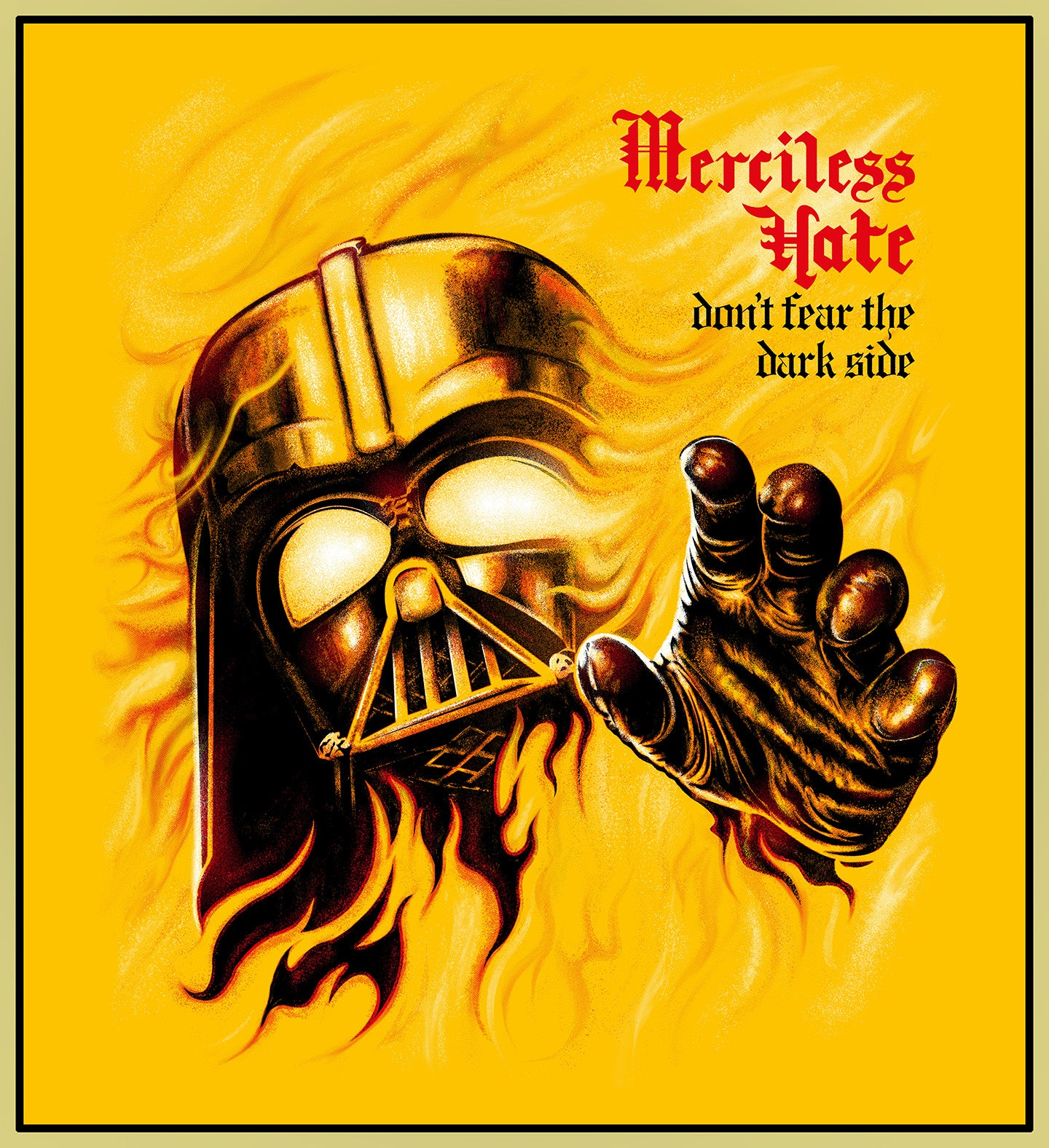 MERCILESS HATE - DARTH VADER TURBO TEE!