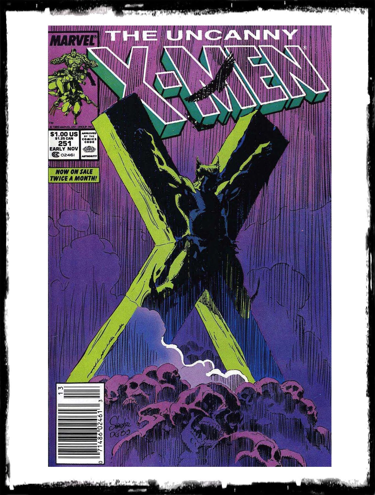 "UNCANNY X-MEN - #251 ""FEVER DREAM"" ICONIC COVER (1989 - VF+)"