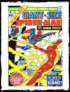 "GIANT-SIZE SPIDER-MAN - #6 ""THE WEB AND THE FLAME"" (1975 - VG/FN)"