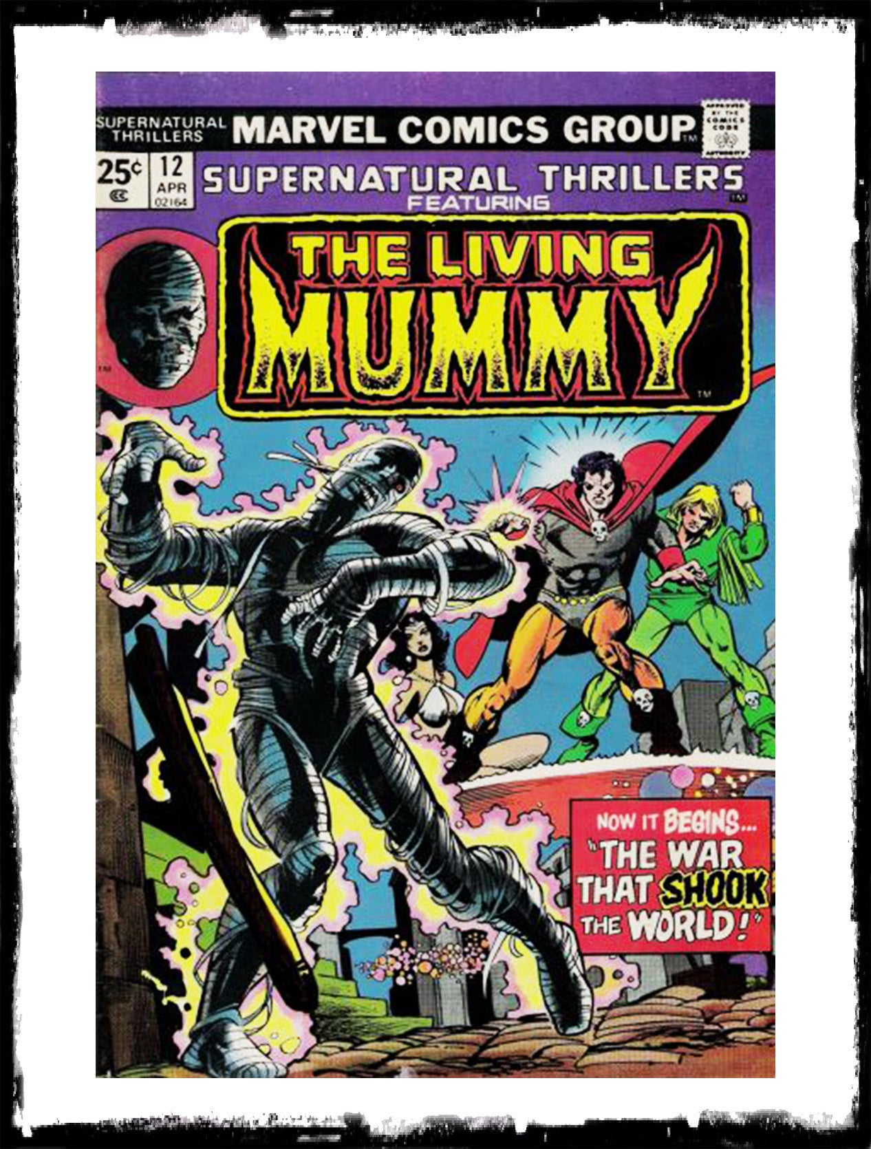 SUPERNATURAL THRILLERS FEAT THE LIVING MUMMY - #12 (1975 - VF+)