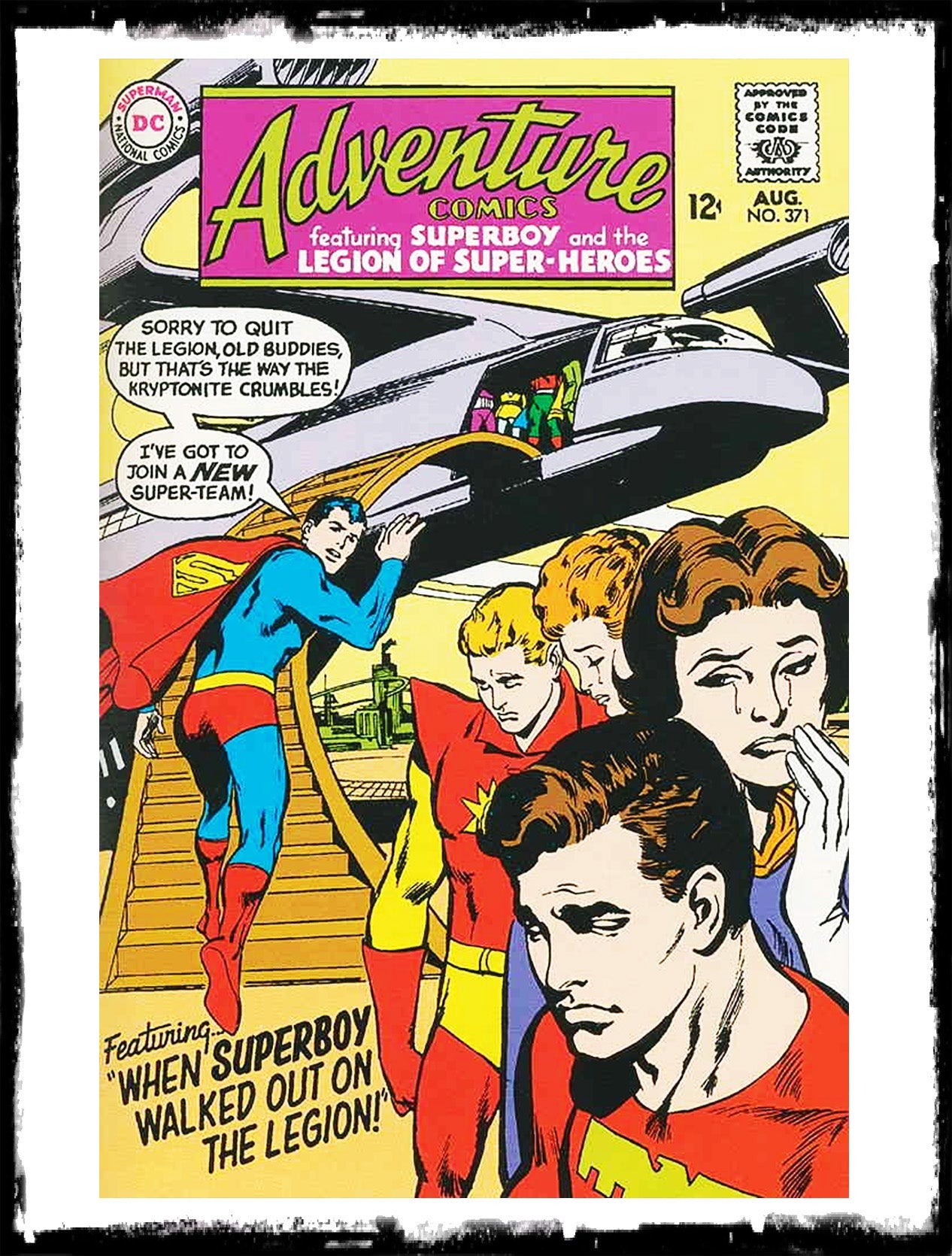 "ADVENTURE COMICS - #371 ""THE COLOSSAL FAILURE!"" - NEAL ADAMS COVER (1961 - VF+)"