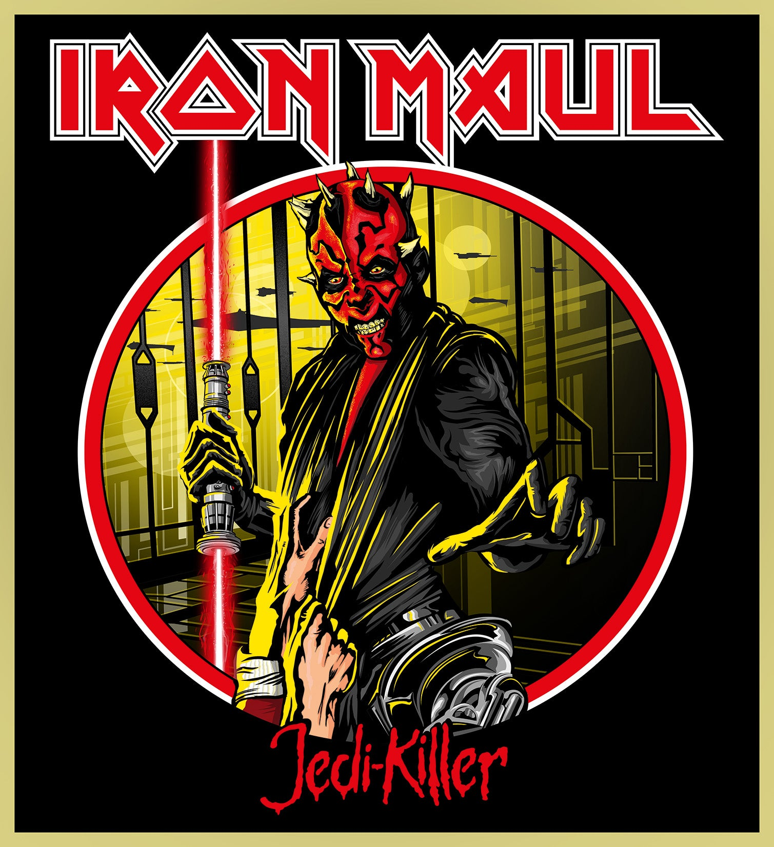 DARTH MAUL - IRON MAIDEN HEAVY METAL TURBO TEE!