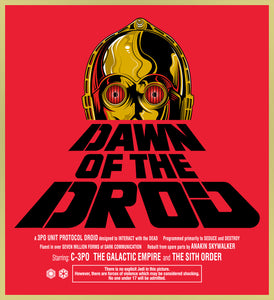 DAWN OF THE DROID - C3-PO /  DAWN OF THE DEAD TURBO TEE!