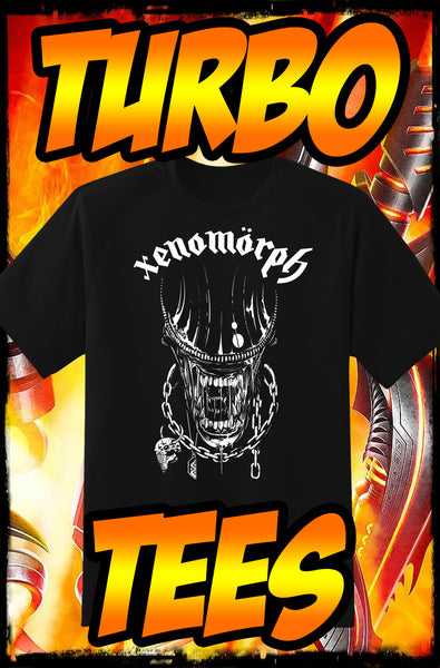 "XENOMORPH - MOTÖRHEAD ""MORPH OR DIE"" HEAVY METAL TURBO TEE!"
