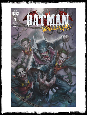 BATMAN WHO LAUGHS - #1 LUCIO PARRILLO VARIANT - SIGNED BY SCOTT SNYDER W/ COA (2018 - NM)