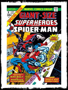 GIANT-SIZE SUPER-HEROES - #1 FEAT SPIDER-MAN, MAN-WOLF & MORBIUS (1974 - FN+)