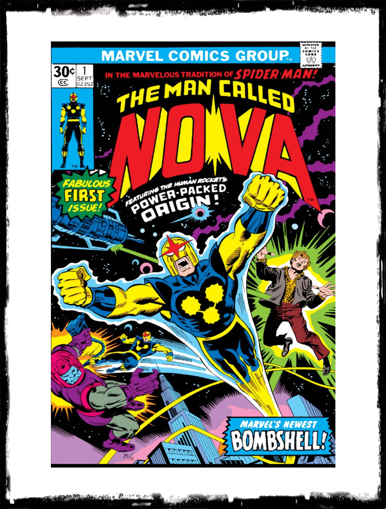 NOVA - #1 1ST APP OF NOVA / RICHARD RIDER (1976 - FN)