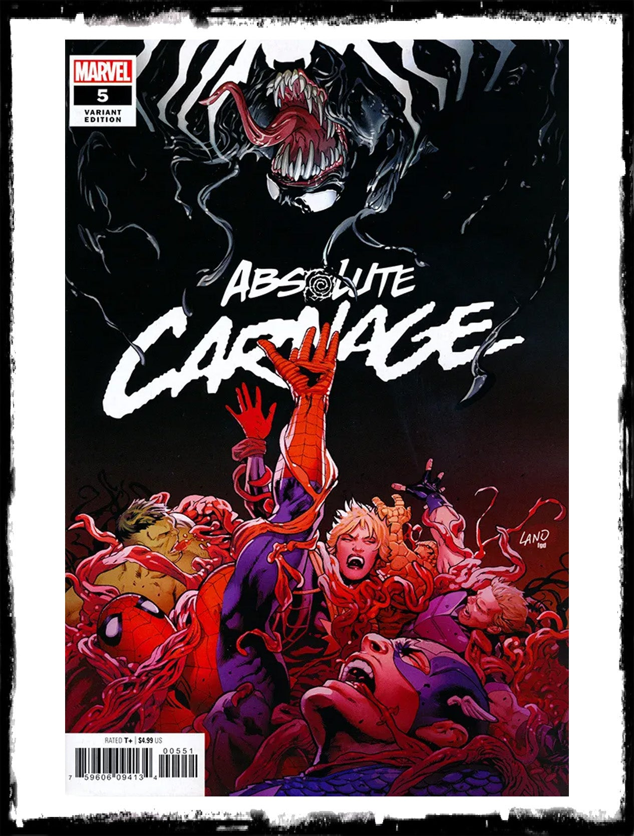 ABSOLUTE CARNAGE - #5 GREG LAND VARIANT (2019 - NM)