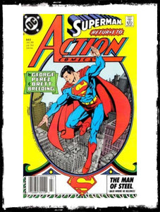 ACTION COMICS - #643 ICONIC GEORGE PEREZ COVER! (1989 - VF+/NM)