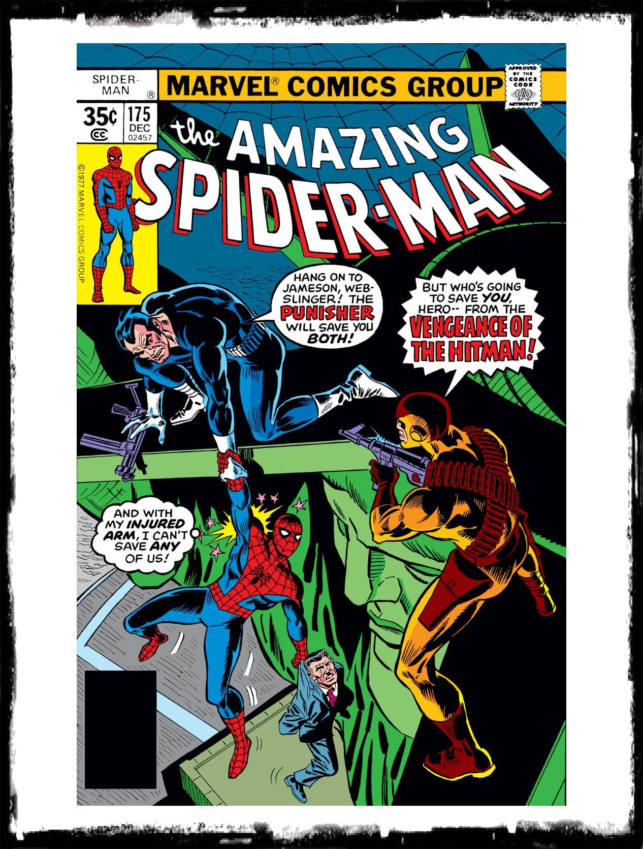 AMAZING SPIDER-MAN - #175 EARLY PUNISHER APPEARANCE / NEWSSTAND (1977 - VF)