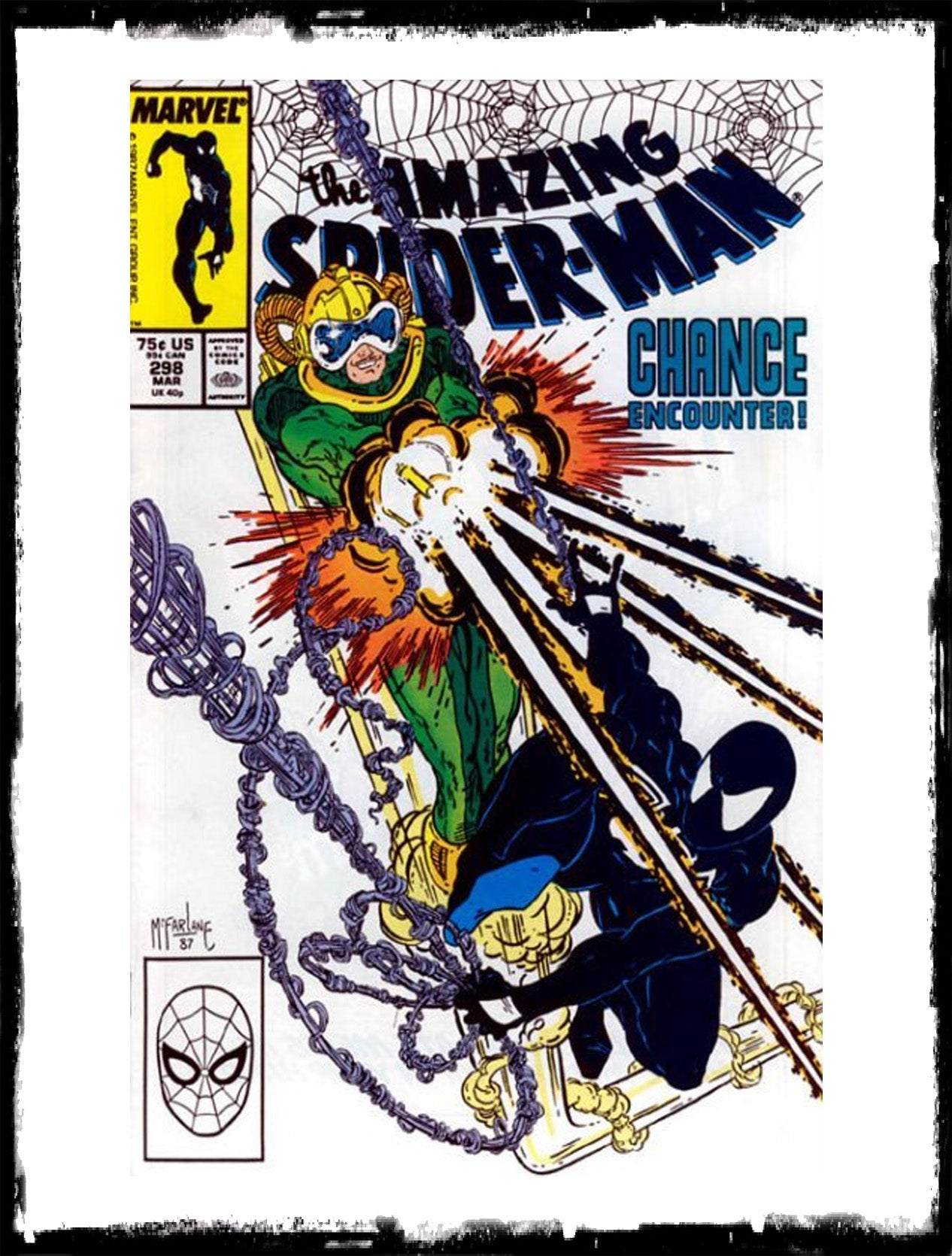 AMAZING SPIDER-MAN - #298 FIRST TODD McFARLANE ON SPIDER-MAN (1988 - VF+/NM)