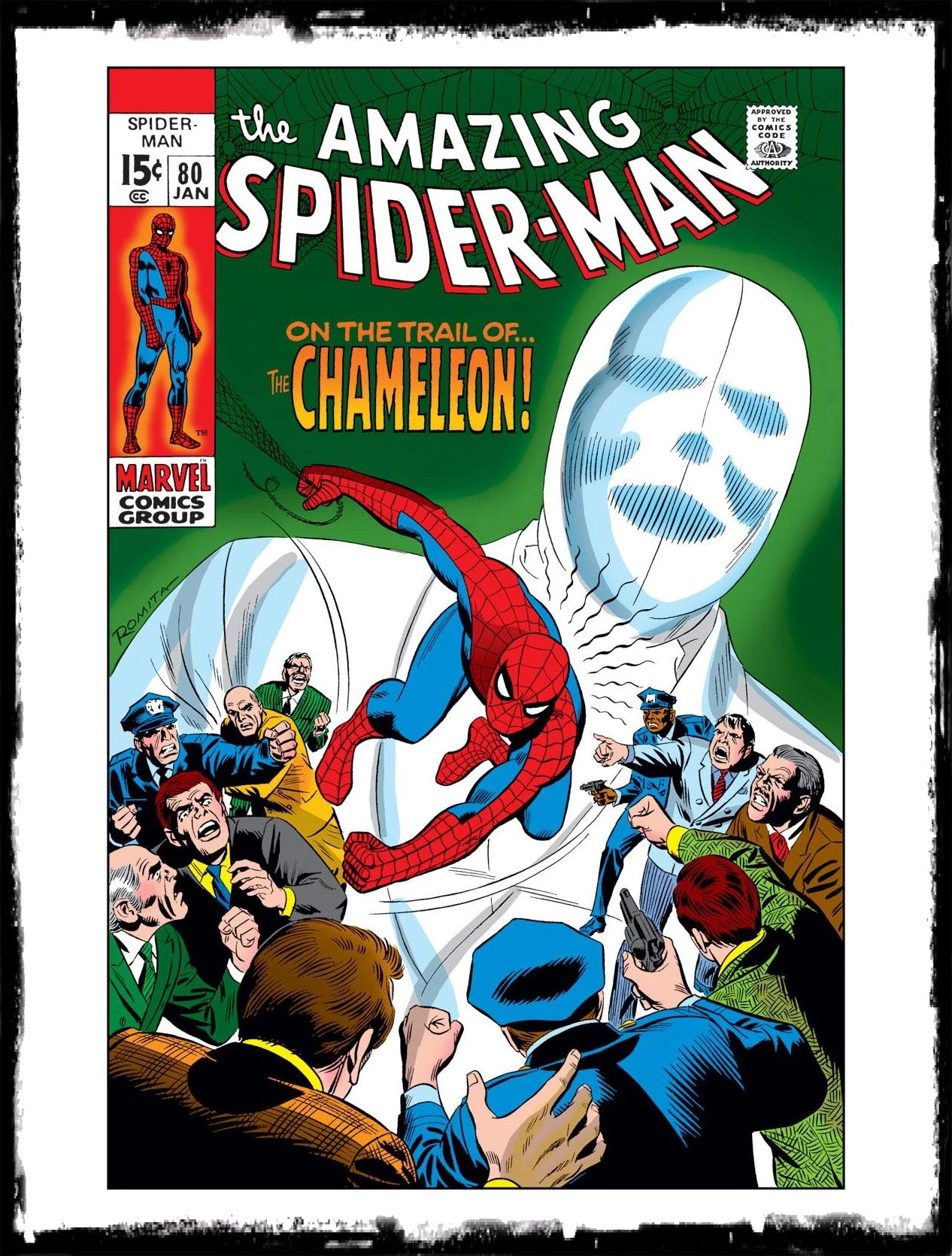 "AMAZING SPIDER-MAN - #80 ""ON THE TRAIL OF...THE CHAMELEON!"" (1970 - FN/VF)"
