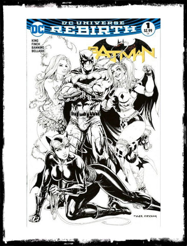BATMAN - #1 TYLER KIRKHAM B&W VARIANT (2016 - CONDITION NM)