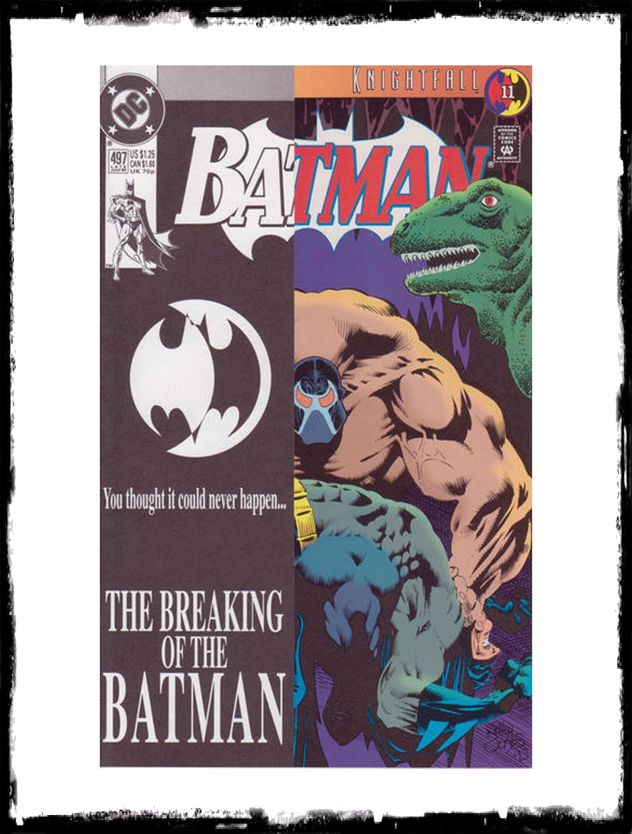 BATMAN - #497 BANE BREAKS BATMAN'S BACK (1993 - CONDITION NM)