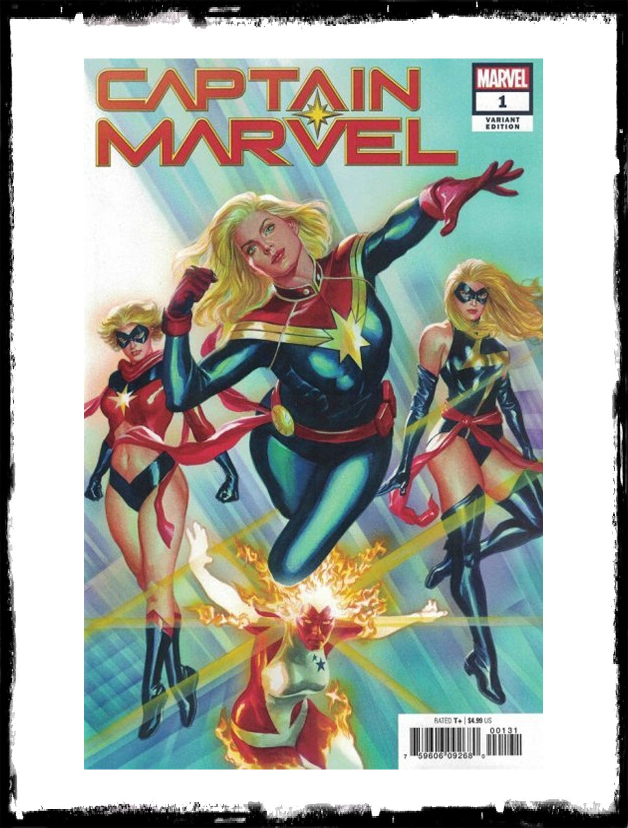 CAPTAIN MARVEL - #1 ALEX ROSS 1:50 VARIANT (2019 - CONDITION NM)