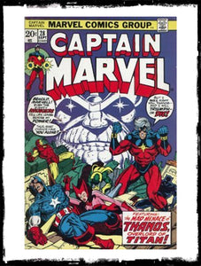CAPTAIN MARVEL - #28 5TH APPEARANCE OF THANOS (1973 - VF+)
