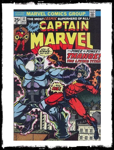 CAPTAIN MARVEL - #33 ORIGIN OF THANOS (1974 - VF+)