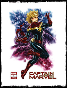 CAPTAIN MARVEL - #1 MARK BROOKS EXCLUSIVE VARIANT (2018 - NM)