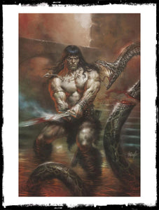 CONAN THE BARBARIAN - #1 LUCIO PARRILLO VIRGIN VARIANT - SIGNED BY JASON AARON W/ COA (2020 - VF+/NM)