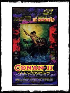 CONAN II – 1994 ALL CHROMIUM SEALED BOX OF TRADING CARDS!