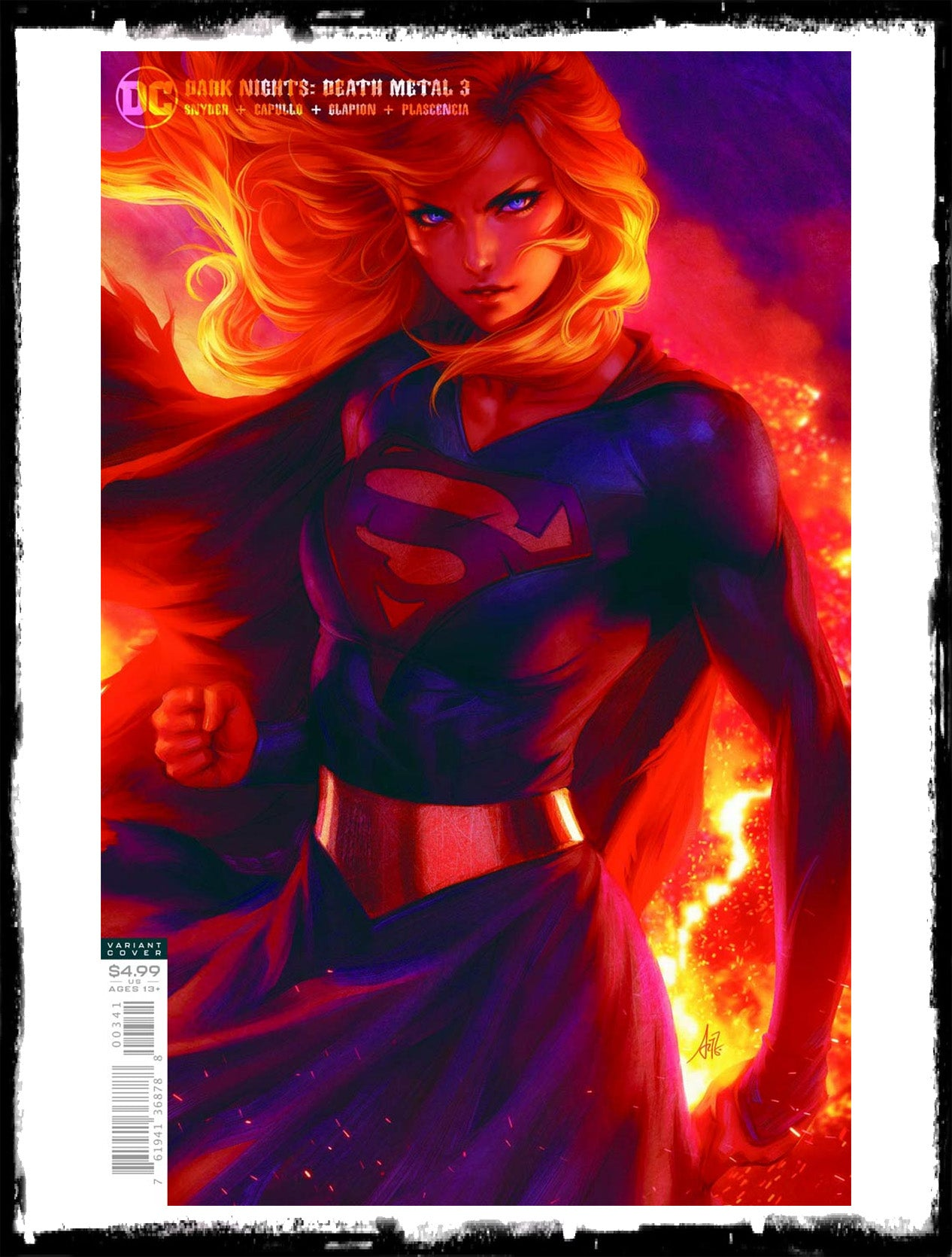 DARK NIGHTS: DEATH METAL - #3 ARTGERM SUPERGIRL COVER (2020 - NM)