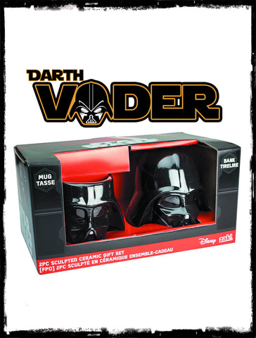 STAR WARS - DARTH VADER 2 PIECE CERAMIC MUG & BANK SET