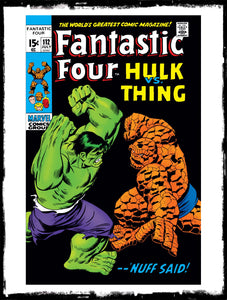 FANTASTIC FOUR - #112 INCREDIBLE HULK VS. THE THING (1971 - VF)