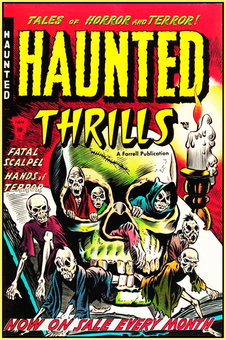 HAUNTED THRILLS 1952 - GOLDEN AGE TURBO TEE!