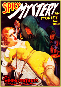 SPICY MYSTERY STORIES - DEC. 1936 - GOLDEN AGE TURBO TEE!