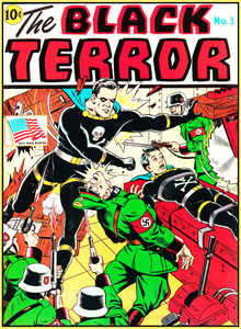 BLACK TERROR 1943 - GOLDEN AGE TURBO TEE!