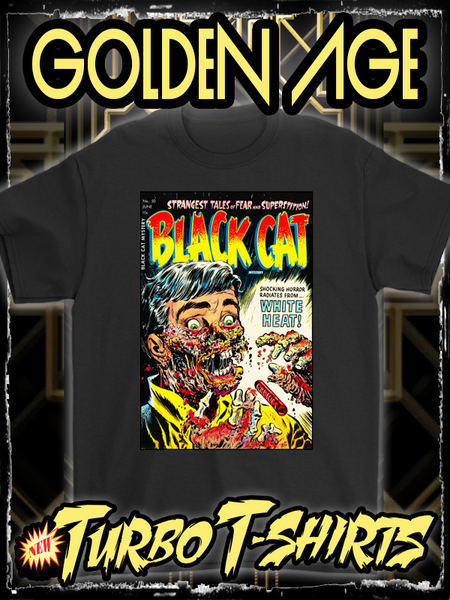 BLACK CAT MYSTERY 1954 - GOLDEN AGE TURBO TEE!