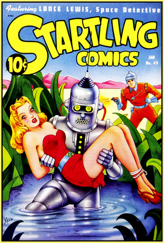 STARTLING COMICS 1948 - GOLDEN AGE TURBO TEE!
