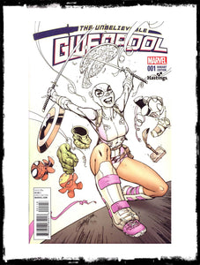 UNBELIEVABLE GWENPOOL - #1  J. SCOTT CAMPBELL HASTINGS FADE VARIANT (2016 - NM)