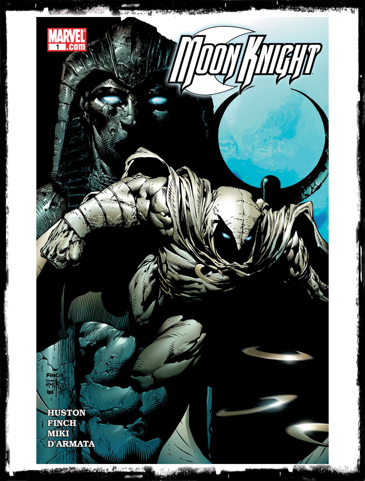 MOON KNIGHT - #1 DAVE FINCH COVER (2006 - VF+)