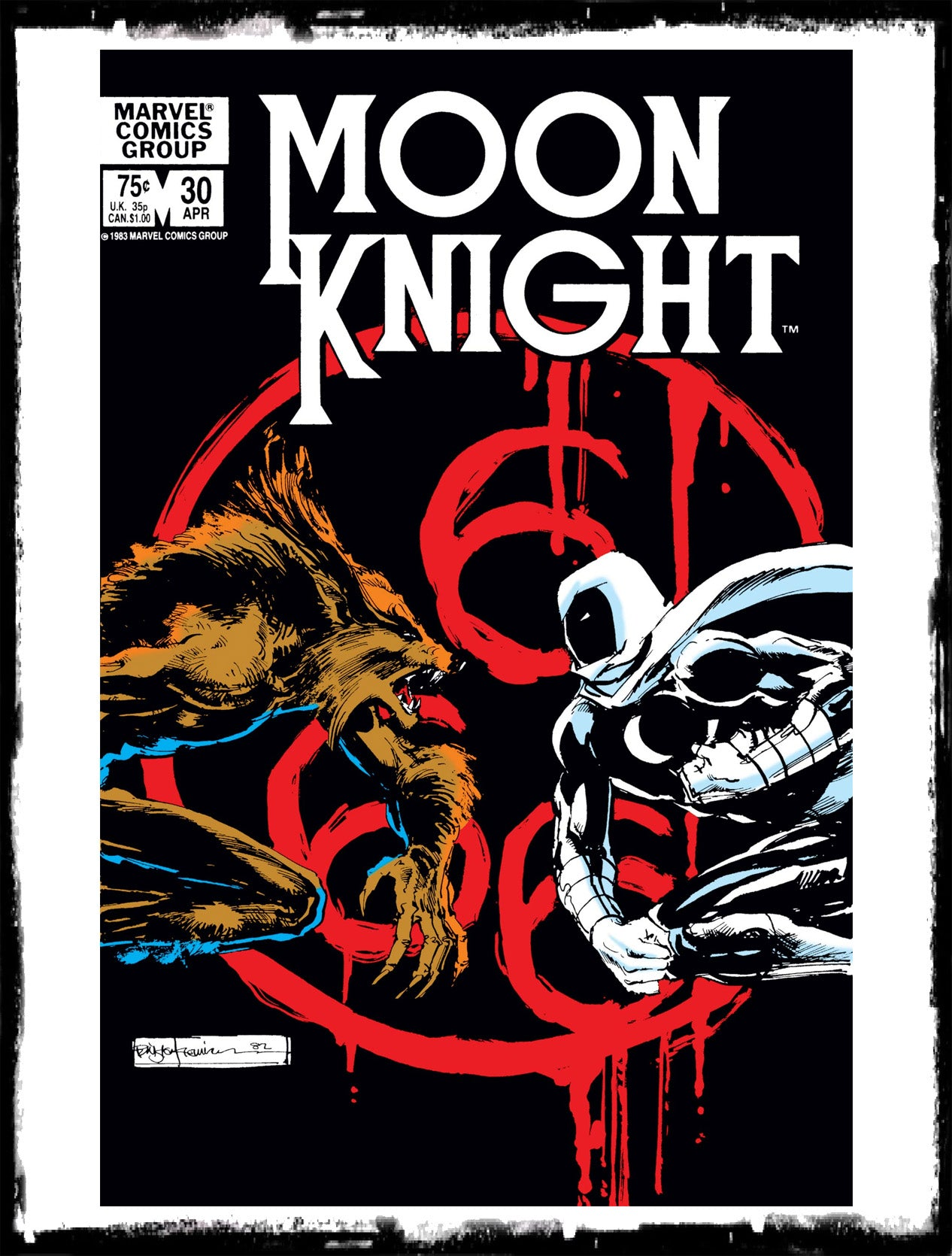"MOON KNIGHT - #30 ""THE MOONWRAITH, THREE SIXES, & A BEAST"" (1983 - VF+)"
