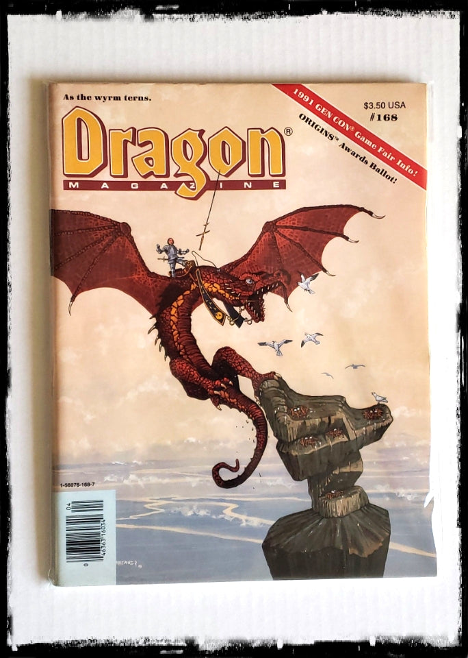 DRAGON MAGAZINE - ISSUE # 168 (CONDITION - FINE)
