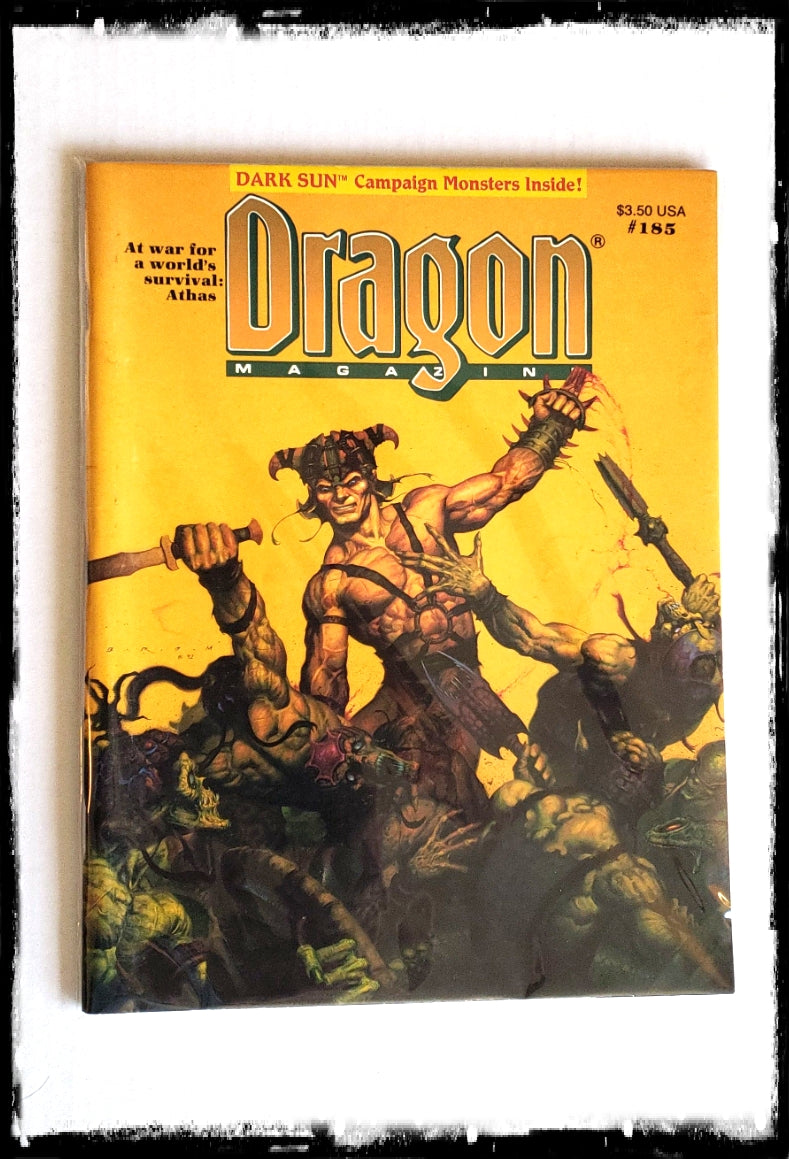 DRAGON MAGAZINE - ISSUE # 185 (CONDITION - FINE)