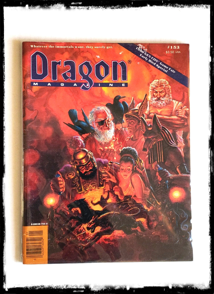 DRAGON MAGAZINE - ISSUE # 153 (CONDITION - FINE)