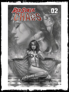 RED SONJA: AGE OF CHAOS - #2 LUCIO PARRILLO 1:40 B&W COVER (2020 - VF+)